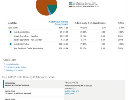 Private Bank Portal Redesign